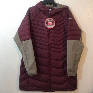 Columbia Oyanta trail hooded jacket SZ 1X